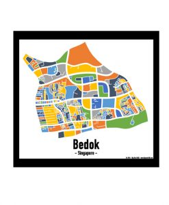 Bedok - Singapore Map Print - Full Colour