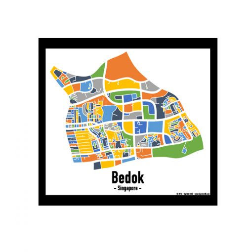 Bedok - Singapore Map Print - Full Colour