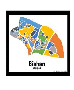 Bishan - Singapore Map Print - Full Colour