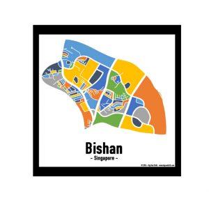 Bishan - Singapore Map Print - Full Colour