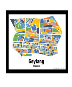 Geylang - Singapore Map Print - Full Colour