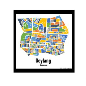 Geylang - Singapore Map Print - Full Colour