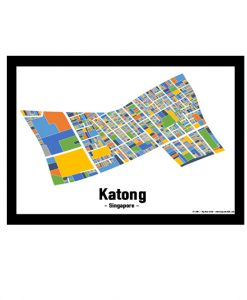 Katong – Singapore Map Print – Full Colour