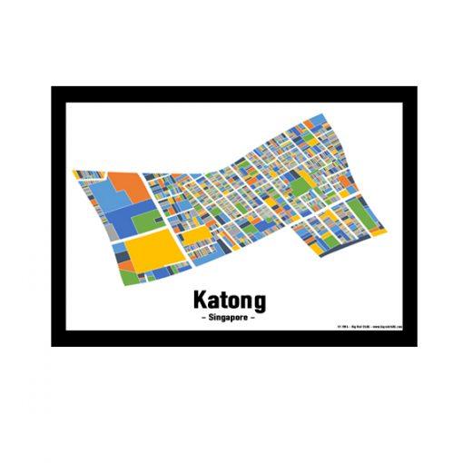 Katong – Singapore Map Print – Full Colour
