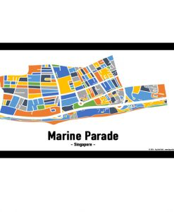 Marine Parade - Singapore Map Print - Full Colour