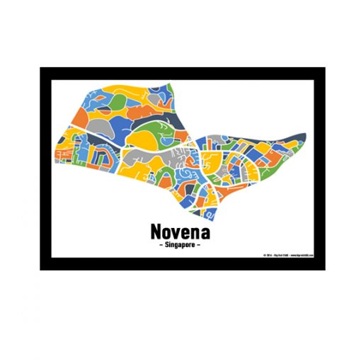 Novena - Singapore Map Print - Full Colour