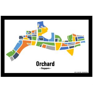 Orchard - Singapore Map Print - Full Colour