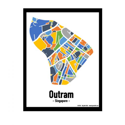 Outram - Singapore Map Print - Full Colour
