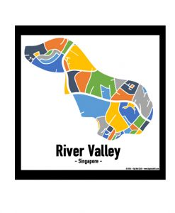 River Valley - Singapore Map Print - Full Colour