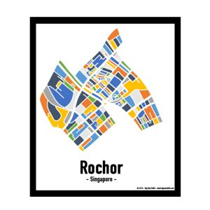 Rochor - Singapore Map Print - Full Colour