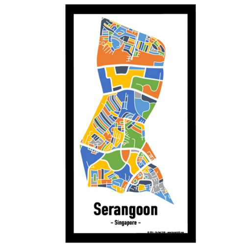 Serangoon - Singapore Map Print - Full Colour