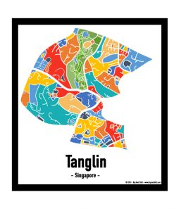 Tanglin - Singapore Map Print - Full Colour