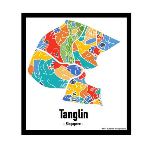 Tanglin - Singapore Map Print - Full Colour