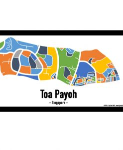 Toa Payoh - Singapore Map Print - Full Colour