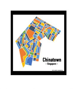 Chinatown - Singapore Map Print - Full Colour