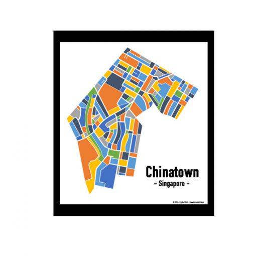 Chinatown - Singapore Map Print - Full Colour