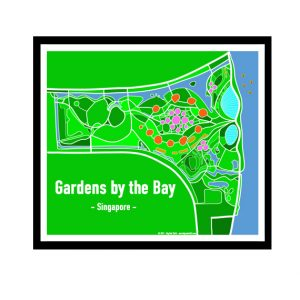 Gardens by the Bay - Singapore Map Print - Full Colour