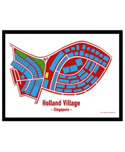 Holland Village - Singapore Map Print - Full Colour - White Background