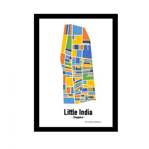 Little India - Singapore Map Print - Full Colour