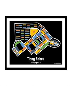 Tiong Bahru - Singapore Map Print - Full Colour