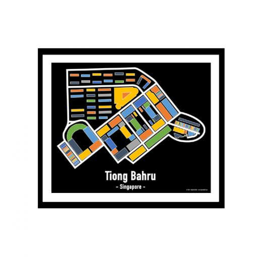 Tiong Bahru - Singapore Map Print - Full Colour