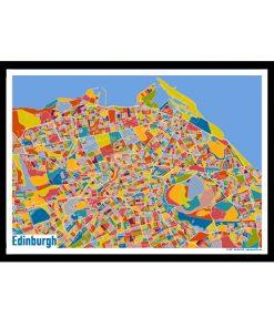 Edinburgh – Edinburgh Map Print – Full Colour