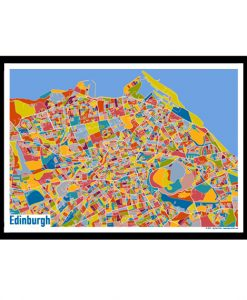 Edinburgh – Edinburgh Map Print – Full Colour