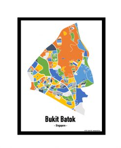 Bukit Batok - Singapore Map Print - Full Colour