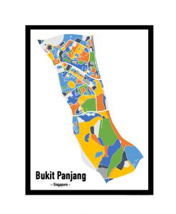 Bukit Panjang - Singapore Map Print - Full Colour