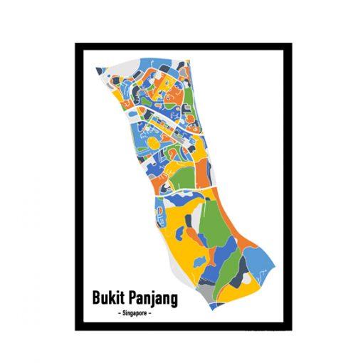 Bukit Panjang - Singapore Map Print - Full Colour