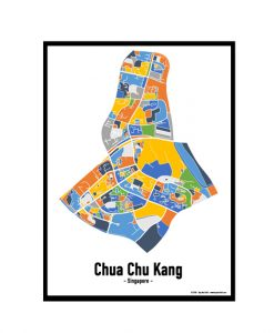 Chua Chu Kang - Singapore Map Print - Full Colour