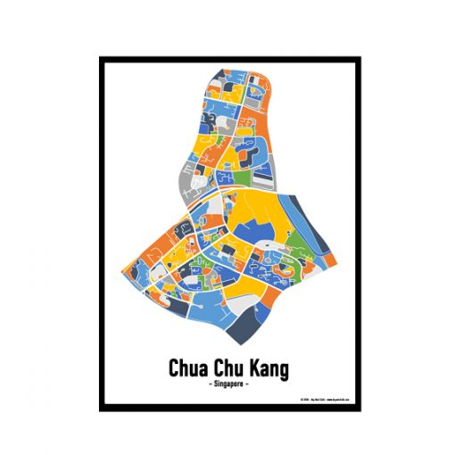 Chua Chu Kang - Singapore Map Print - Full Colour
