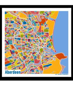 Aberdeen – Aberdeen Map Print – Full Colour