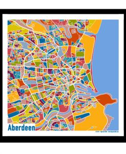 Aberdeen – Aberdeen Map Print – Full Colour