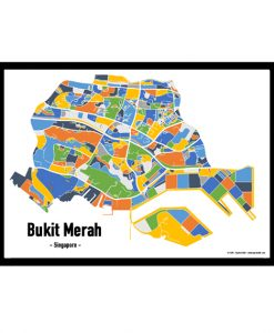 Bukit Merah - Singapore Map Print - Full Colour