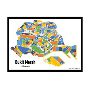 Bukit Merah - Singapore Map Print - Full Colour