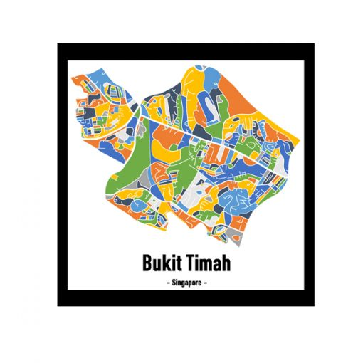 Bukit Timah - Singapore Map Print - Full Colour