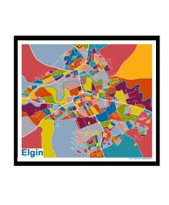 Elgin – Elgin Map Print – Full Colour