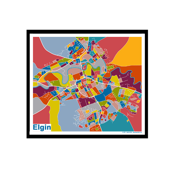Elgin Elgin Map Print Full Colour Big Red Chilli