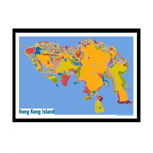Hong_Kong_Island – Hong_Kong_Island Map Print – Full Colour