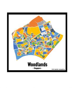 Woodlands - Singapore Map Print - Full Colour