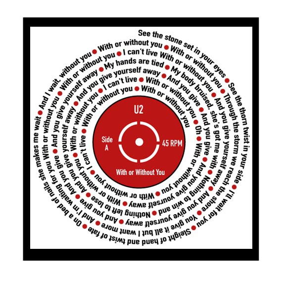 Song Lyrics Record Print