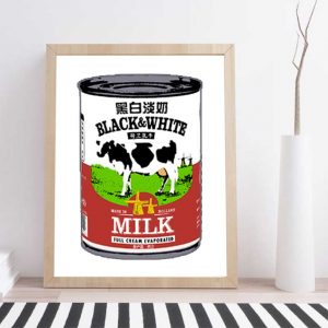 POP ART BLACK & WHITE MILK