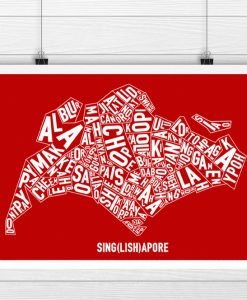 Singapore Singlish Text Map