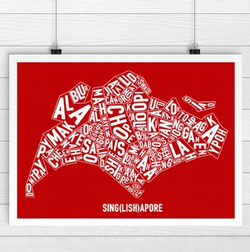 Singapore Singlish Text Map