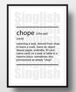 Chope-Singlish-Dictionary