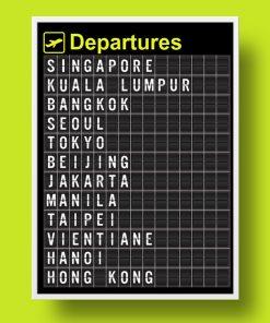 Personalised Airport Departure Board