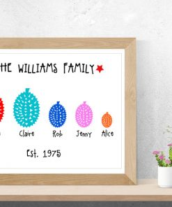 Personalised Durian Family Print