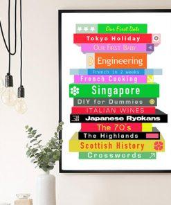 Personalised Book Pile