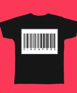 Singapore Barcode Tshirt